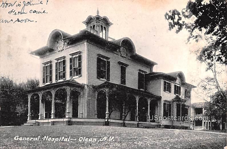 General Hospital - Olean, New York NY Postcard