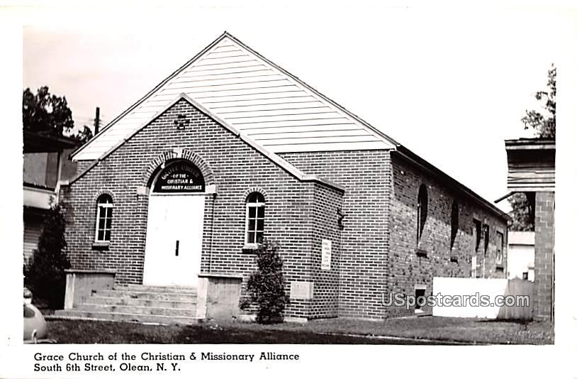 Grace Church of the Christian & Missionary Alliance - Olean, New York NY Postcard