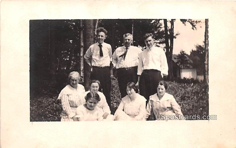 Group of People - Old Forge, New York NY Postcard