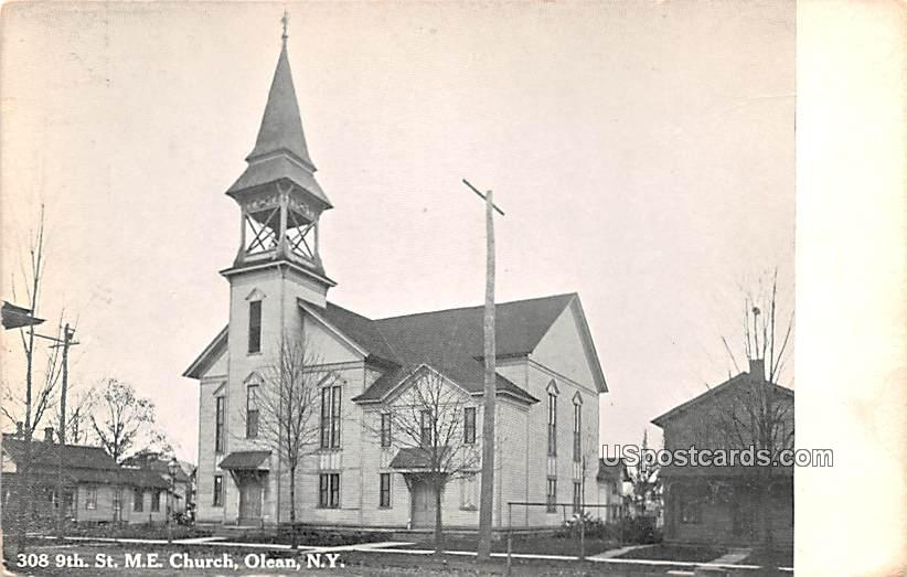ME Church - Olean, New York NY Postcard