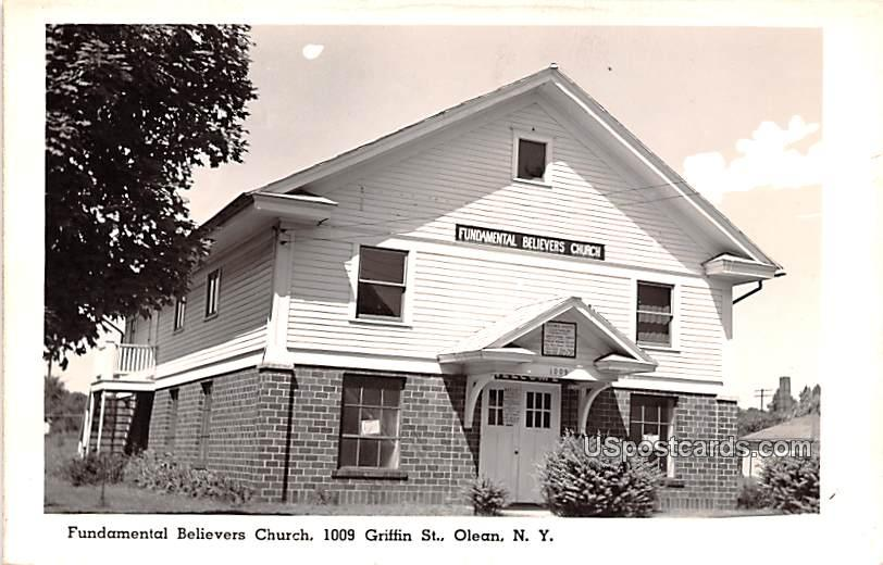 Fundamental Believers Church - Olean, New York NY Postcard