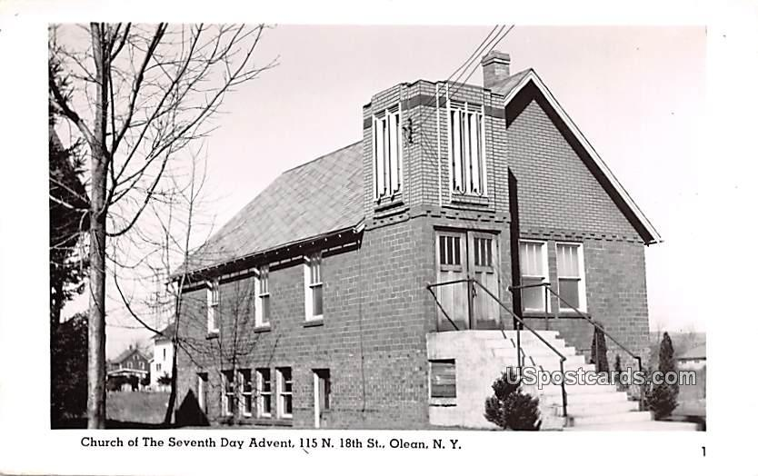 Church of the Seventh Day Advent - Olean, New York NY Postcard