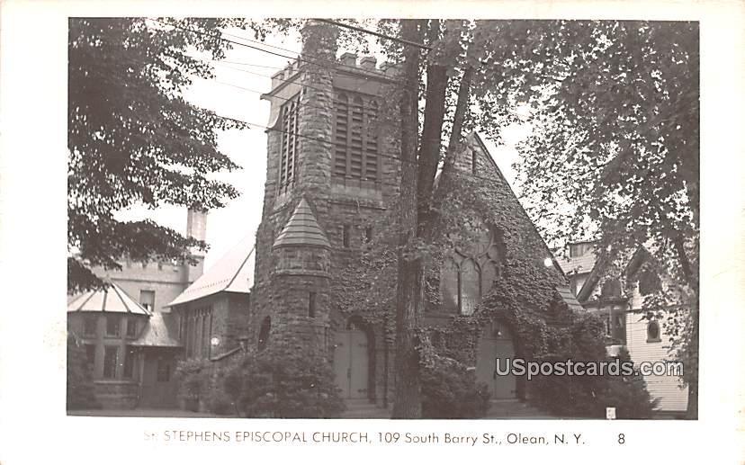 St Stephens Episcopal Church - Olean, New York NY Postcard