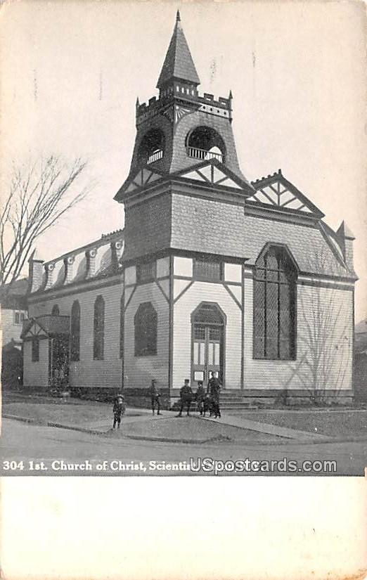 Church of Christ Scientist - Olean, New York NY Postcard