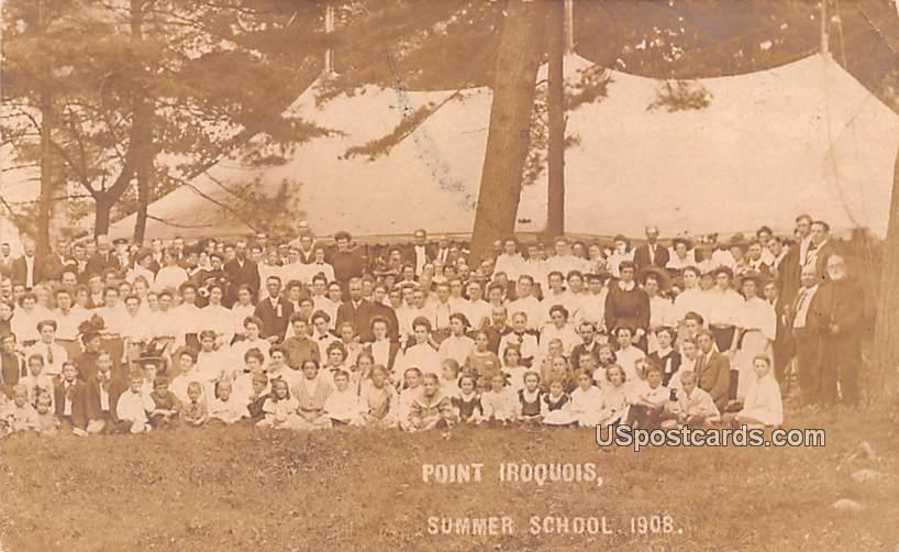 Point Iroquois Summer School 1908 - Ogdensburg, New York NY Postcard