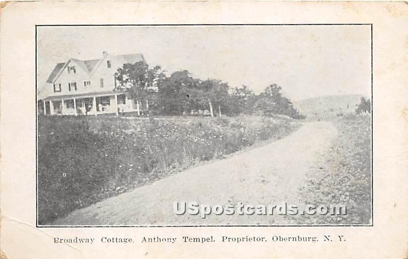 Broadway Cottage - Obernburg, New York NY Postcard