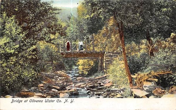 Bridge Oliverea, New York Postcard