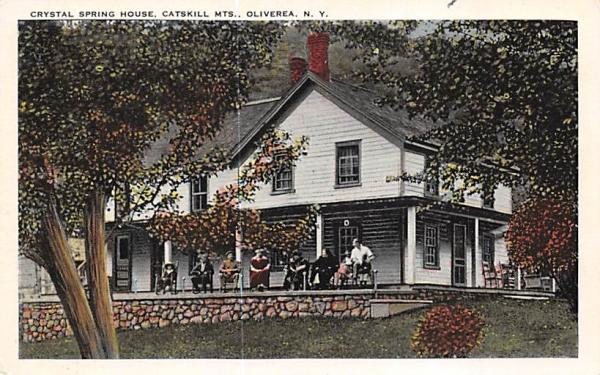 Crystal Spring House Oliverea, New York Postcard