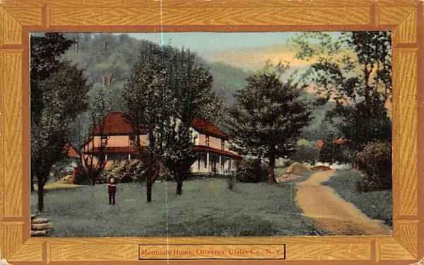 Mountain Home Oliverea, New York Postcard
