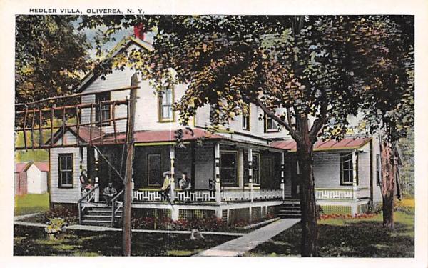 Hedler Villa Oliverea, New York Postcard
