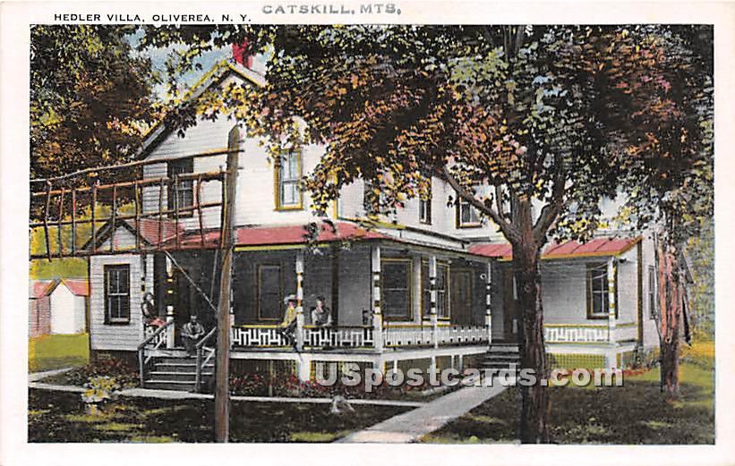Hedler Villa - Oliverea, New York NY Postcard