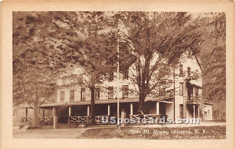 Slide Mountain House - Oliverea, New York NY Postcard