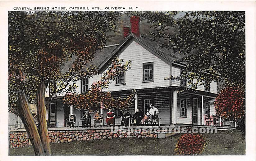 Crystal Spring House, Catskill Mountains - Oliverea, New York NY Postcard
