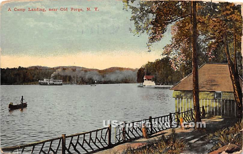 Camp Landing - Old Forge, New York NY Postcard