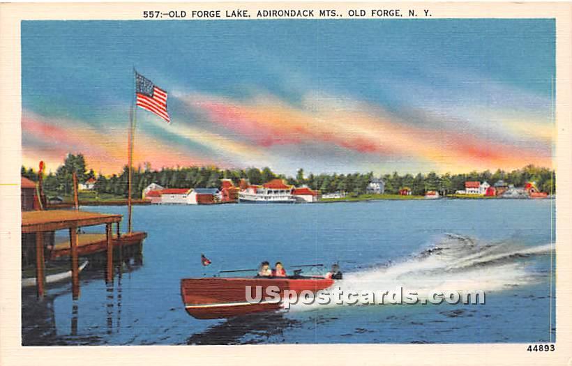 Old Forge Lake - New York NY Postcard