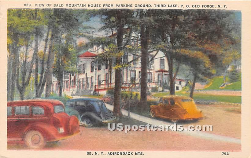 Bald Mountain House, Parking Ground - Old Forge, New York NY Postcard
