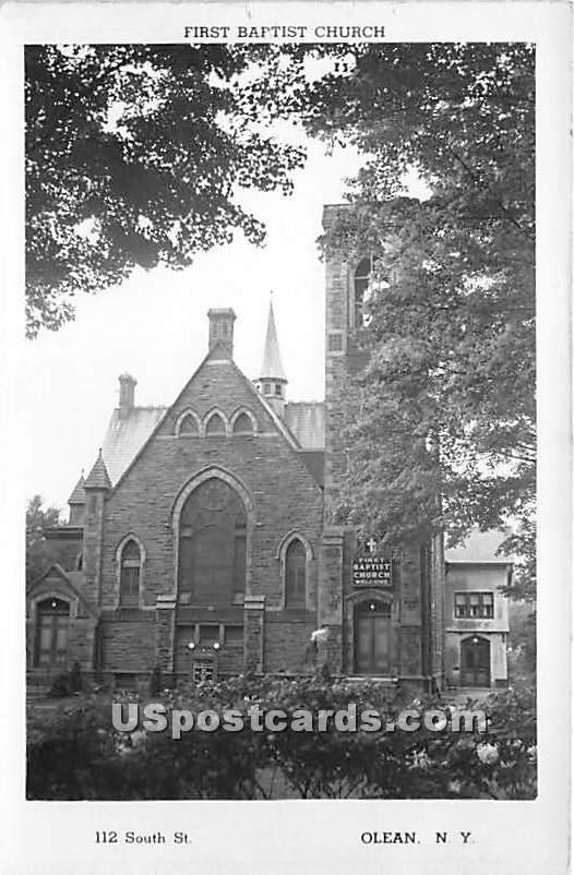 First Baptist Church - Olean, New York NY Postcard