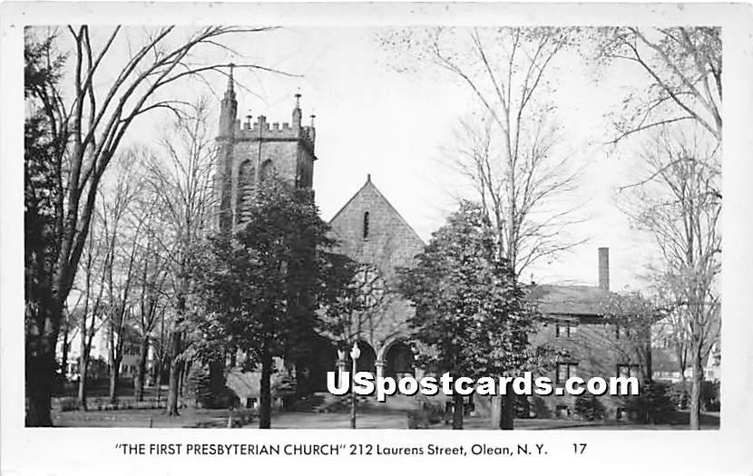 First Presbyterian Church - Olean, New York NY Postcard