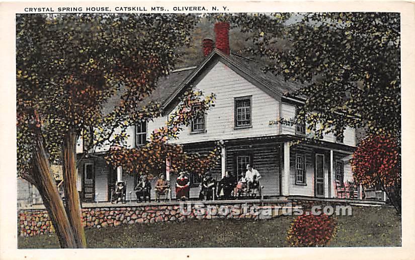 Crystal, Spring House - Oliverea, New York NY Postcard