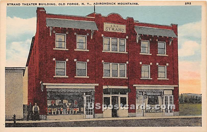 Strand Theater Building - Old Forge, New York NY Postcard