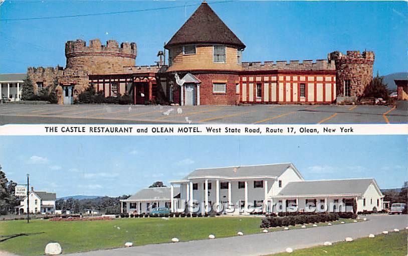 Castle Restaurant, Olean Motel - New York NY Postcard