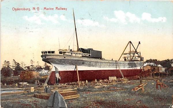 Marine Railway Ogdensburg, New York Postcard