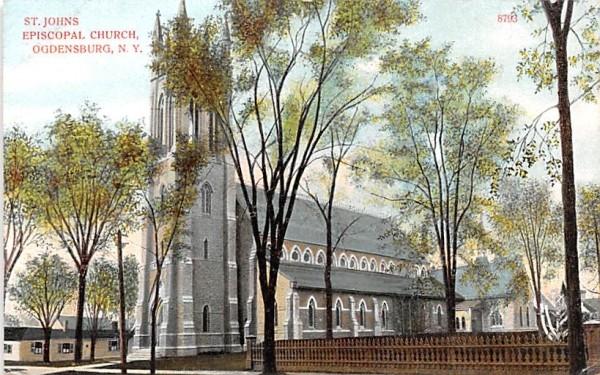 St John's Episcopal Church Ogdensburg, New York Postcard