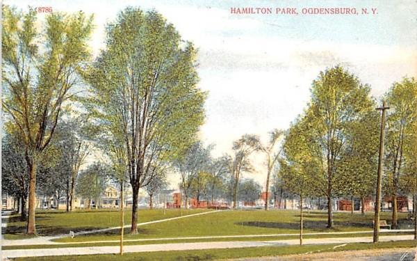 Hamilton Park Ogdensburg, New York Postcard