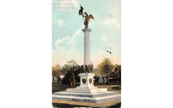 Soldiers Monument Ogdensburg, New York Postcard