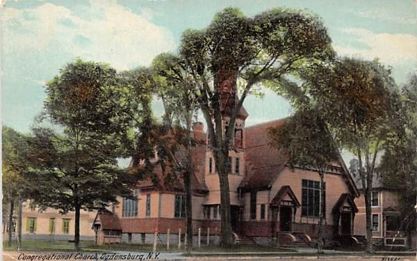Congregational Church Ogdensburg, New York Postcard