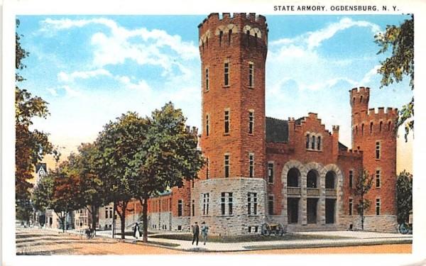 State Armory Ogdensburg, New York Postcard