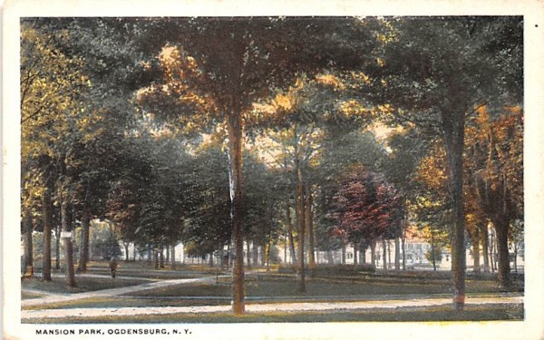 Mansion Park Ogdensburg, New York Postcard