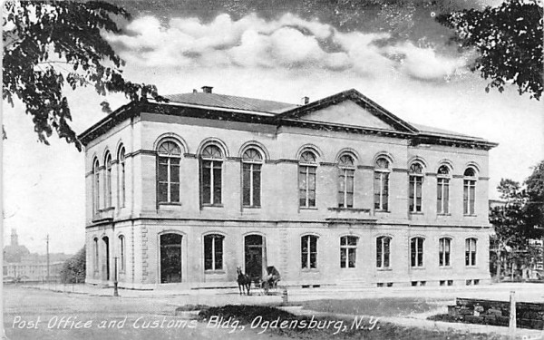 Post Office & Customs Building Ogdensburg, New York Postcard