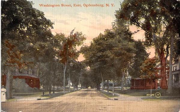 Washington Street Ogdensburg, New York Postcard