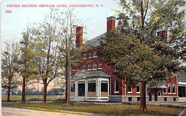 United Helpers Orphans Home Ogdensburg, New York Postcard