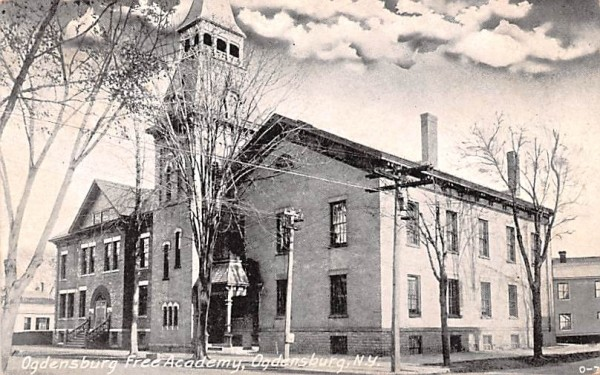 Ogdensburg Free Academy New York Postcard