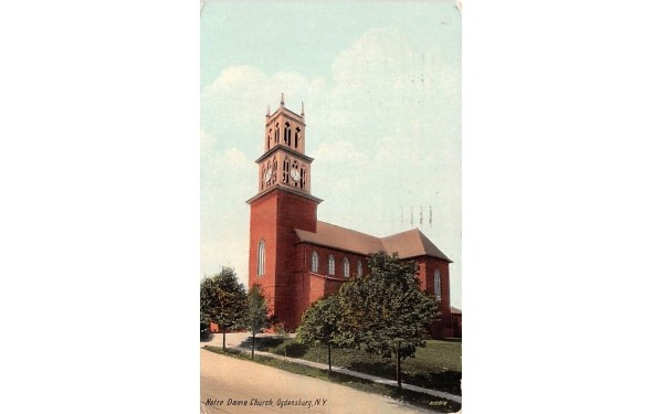 Notre Dame Church Ogdensburg, New York Postcard