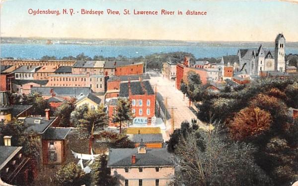 Bird's Eye View Ogdensburg, New York Postcard