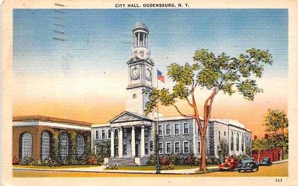 City Hall Ogdensburg, New York Postcard