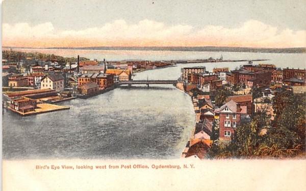 From Post Office Ogdensburg, New York Postcard