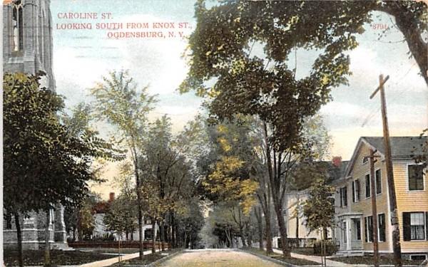 Caroline Street Ogdensburg, New York Postcard
