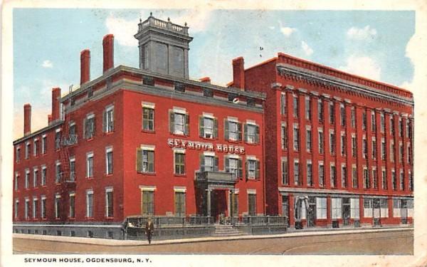 Seymour House Ogdensburg, New York Postcard