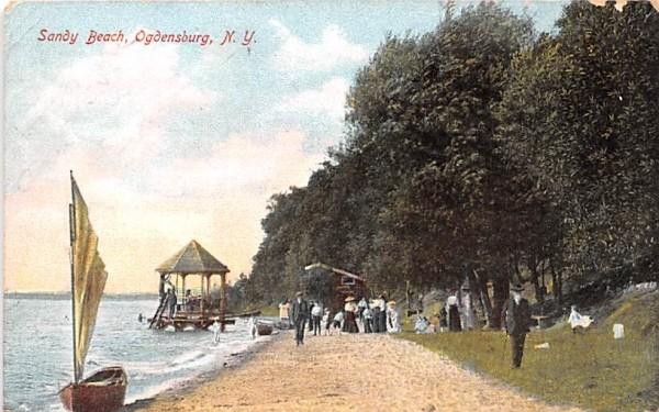 Sandy Beach Ogdensburg, New York Postcard