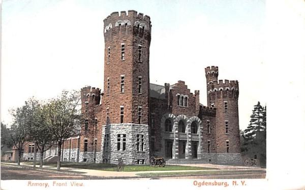 Armory Ogdensburg, New York Postcard