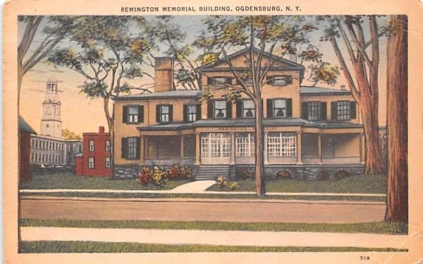 Remington Memorial Building Ogdensburg, New York Postcard