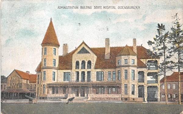 Administration Building Ogdensburg, New York Postcard
