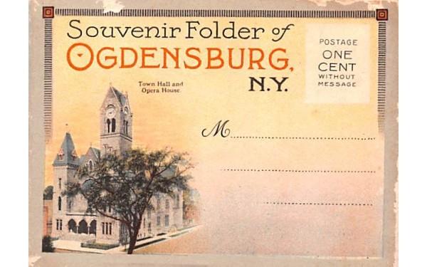 Souvenir Folder Ogdensburg, New York Postcard