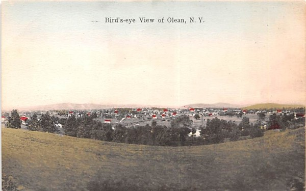 Bird's Eye View Olean, New York Postcard