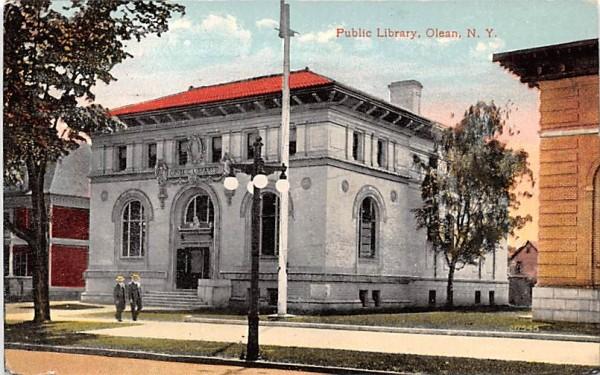 Public Library Olean, New York Postcard