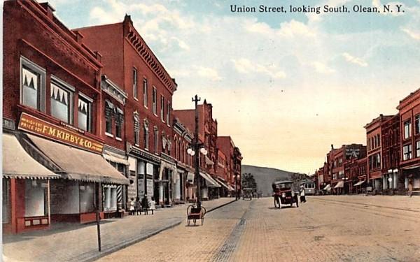 Union Street Olean, New York Postcard